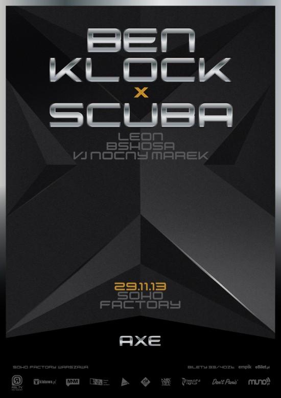 Ben Klock x Scuba - plakat
