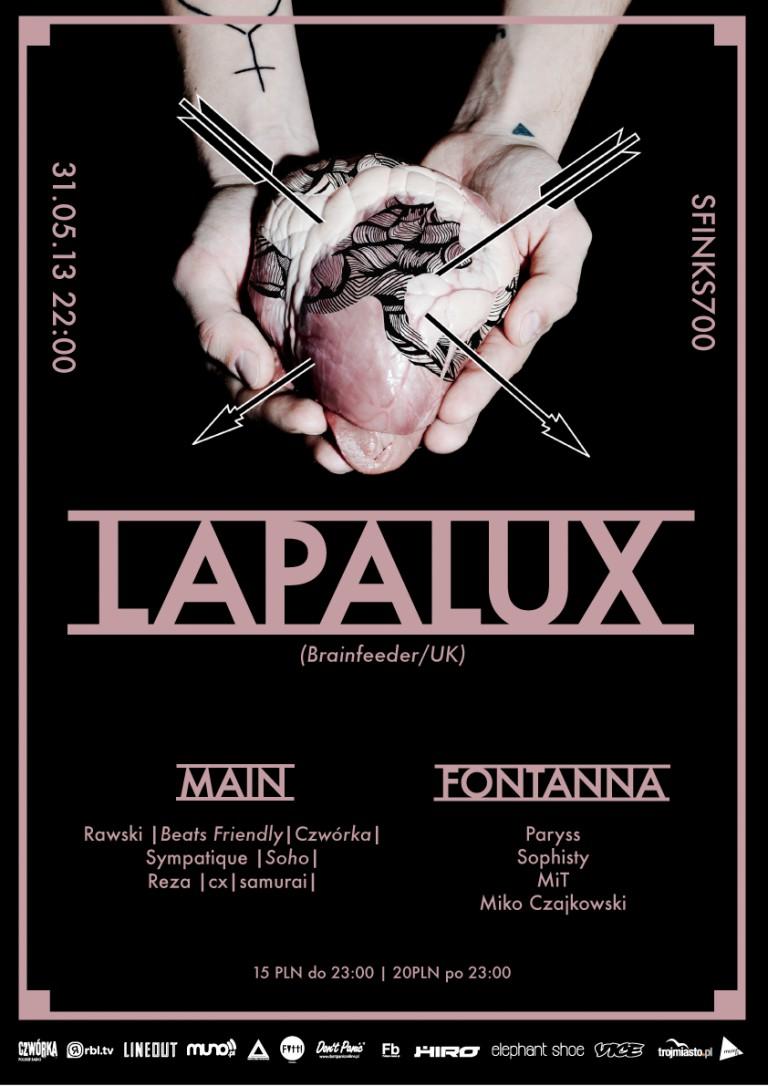 LAPALUX (Brainfeeder | UK) @ Sfinks700