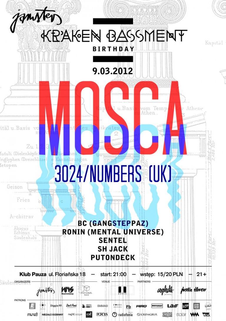 Kraken Bassment : Mosca @ Klub Pauza