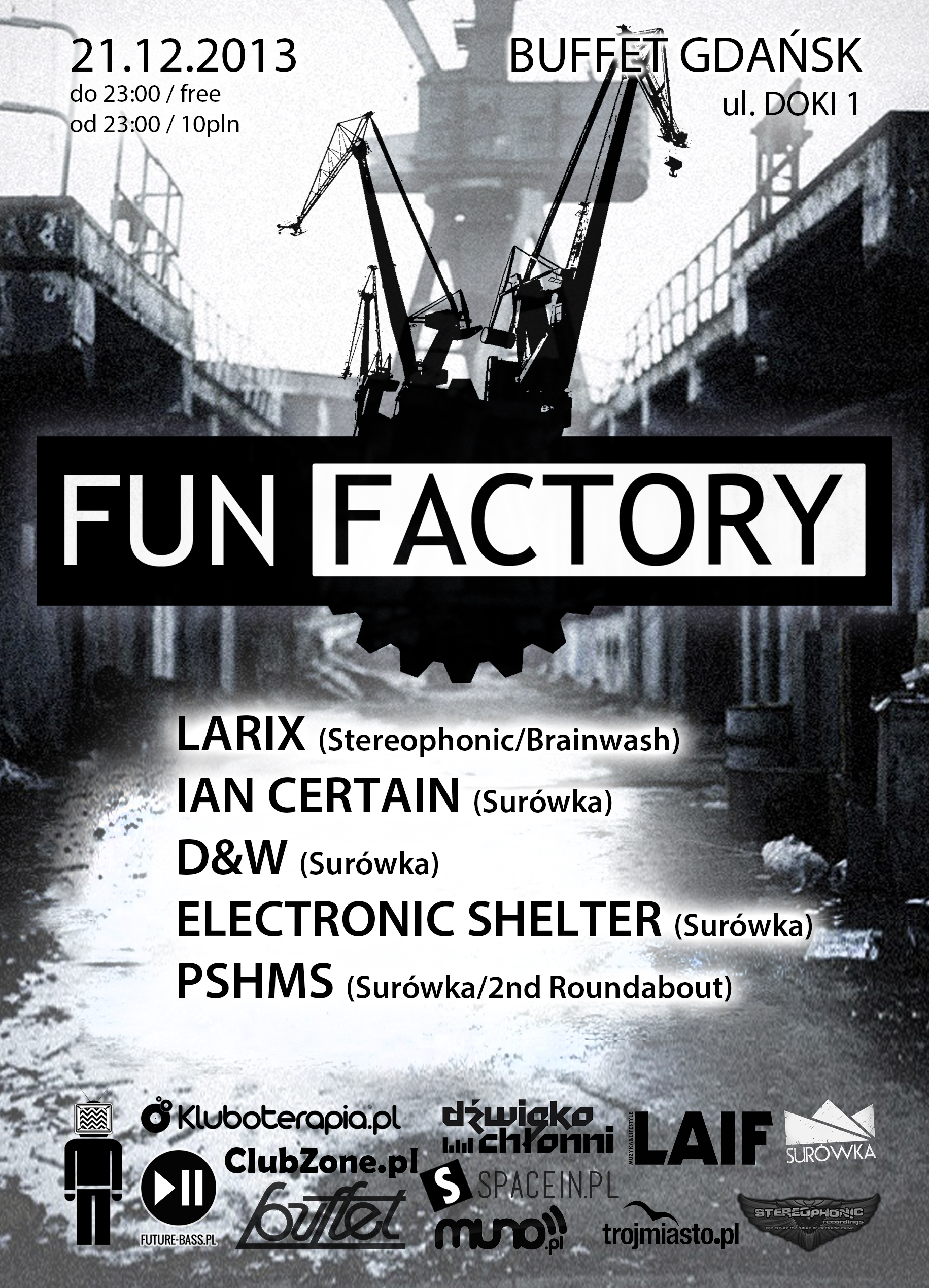 Fun Factory presents Larix 21.12.2013 - plakat