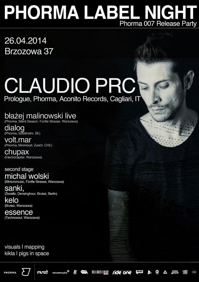 Claudio PRC & Phorma Label Night
