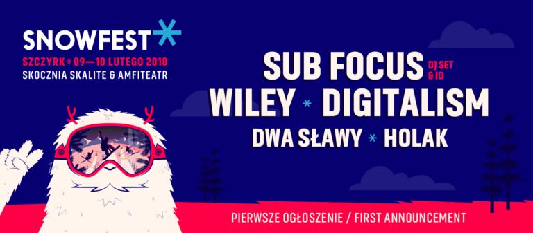 SnowFest 2018 – Wiley, Digitalism i Sub Focus pierwszymi gwiazdami